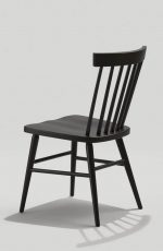 Grand Rapid's Hugh Windsor-Style Dining Chair in Black - View of Backside