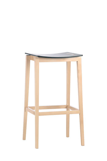 "Grand Rapids - Lena Backless 31"" Wood Saddle Barstool"