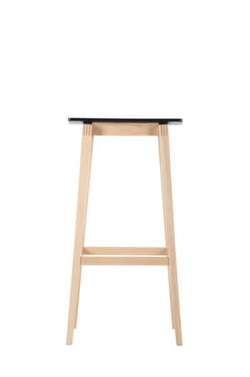 Lena Modern Backless Wood Barstool W Saddle Seat Free