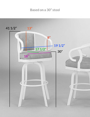 Dimensions for the 2015 Swivel Stool