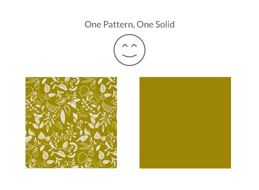 One Pattern and One Solid Pattern = Perfect Match