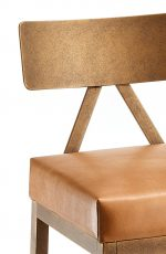 Wesley Allen Macias Modern Stool with Bronze Finish