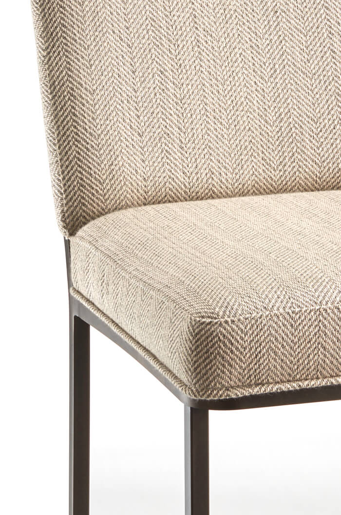 Marbury Upholstered Modern Industrial Sled Counter Stool