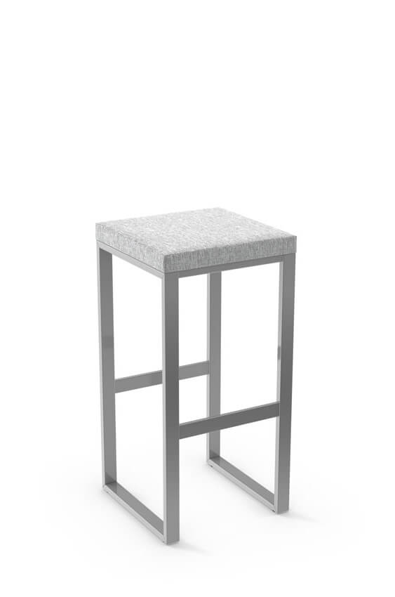 Amisco Aaron Backless Stool with Linear Base