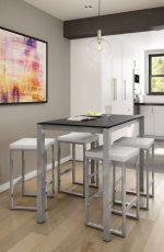 Amisco Aaron Backless Stool in a Modern Dining Area