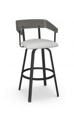 Amisco's Carson Industrial Style Gray Swivel Bar Stool