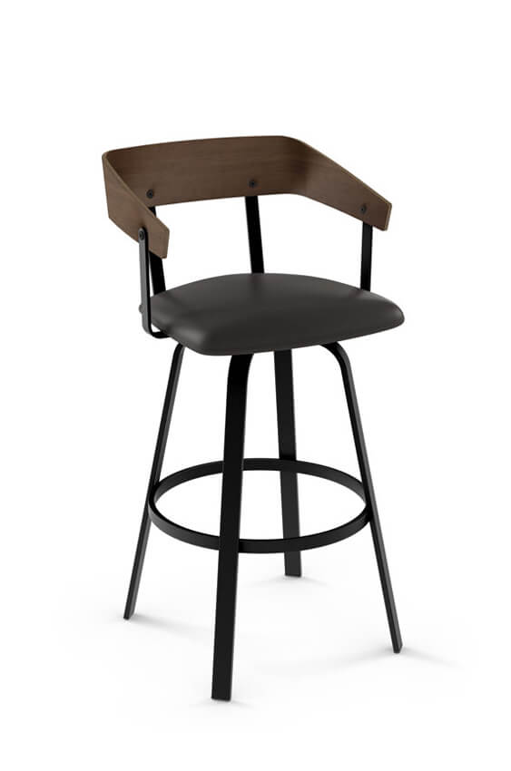 Amisco Carson Swivel Stool For Industrial Or Nordic
