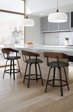 Amisco Carson Swivel Stool for Nordic Kitchens