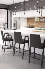 Amisco Edison Stationary Stool for Urban Kitchens