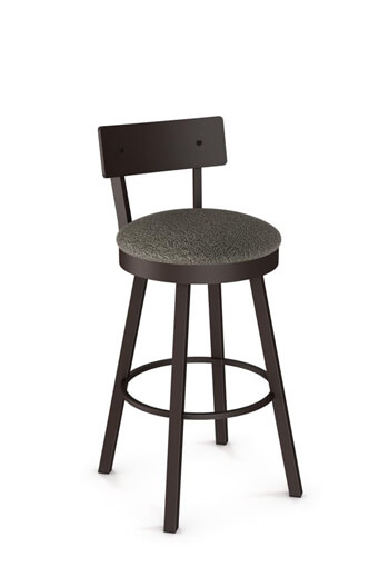 Amisco Lauren Swivel Counter Stool 40593 W Seat Cushion