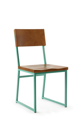 Brady Modern Square Green Dining Chair with Wood by Grand Rapids Co.
