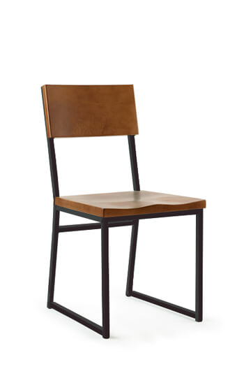 Brady Schoolhouse Dining Chair, Brown And Black By Grand Rapids Co.