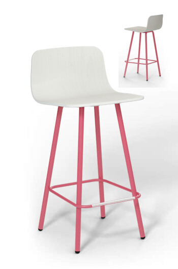 harper pink and white counter stool for modern kitchens