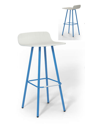 Harper Mid Century Modern 30 Inch Wood Amp Metal Barstool