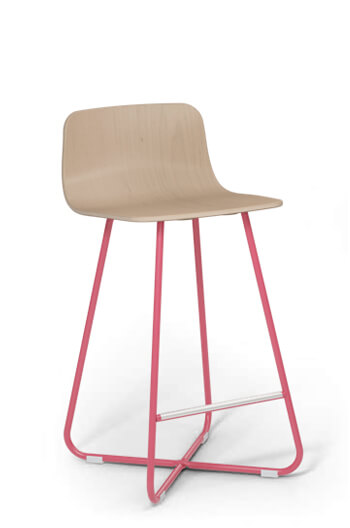 Harper Modern Counter Stool W Low Wood Back Customize Now