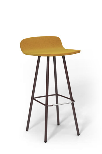 "Harper 30"" Barstool with Upholstered Low Back and Seat"