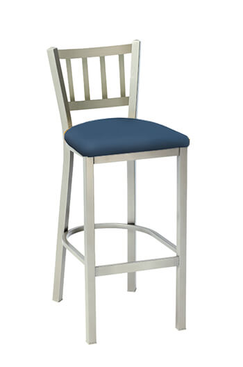 Melissa Anne Mission Back Stool with Seat Cushion by Grand Rapids Chair Co.