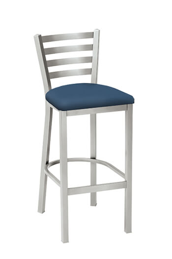 Melissa Anne Ladder Back Stool with Seat Cushion by Grand Rapids Chair Co.