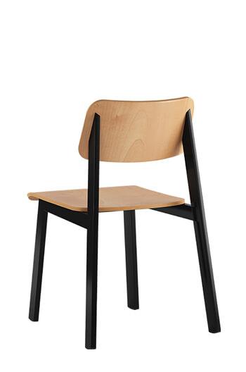 Sadie Mid Century Modern Steel Chair w Molded Wood Free shipping