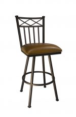 Arcadia Swivel Stool in Sun Bronze and Ford Dune by Callee