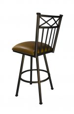 Arcadia Swivel Counter Stool in Bronze by Callee