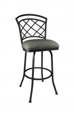 Callee Baldwin Swivel Stool with Flintrock Grey metal finish and Newcastle Slate vinyl