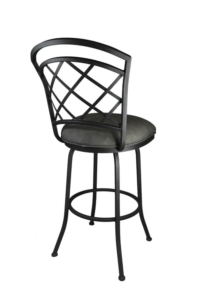 Callee Baldwin Swivel Metal Counter Stool In Gray Or