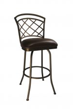 Callee Baldwin Swivel Stool in Bronze Finish