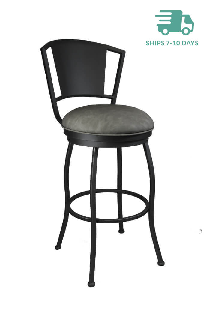 Callee Bristol Modern Swivel Stool In Dark Gray Or Bronze