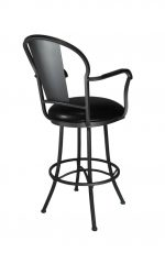 Charleston Swivel Counter Stool in Grey and Black