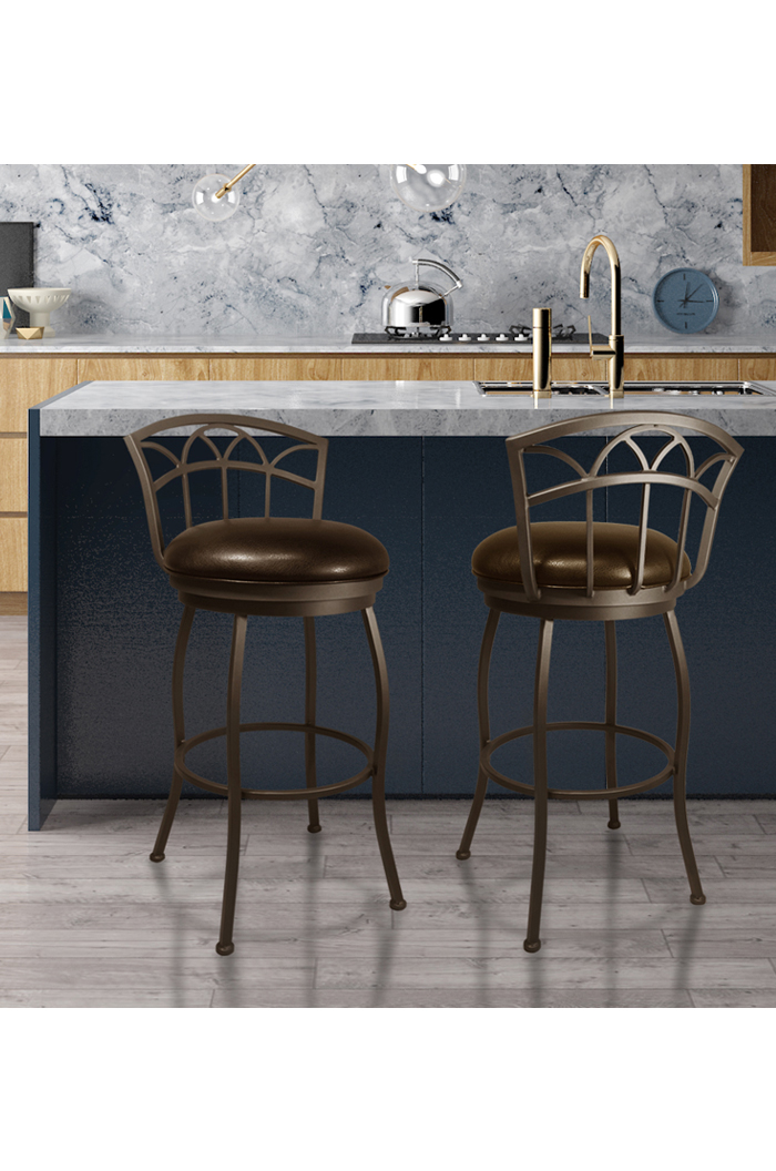 Callee Fairview Swivel Low Back Stool In Black Or Bronze
