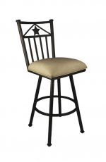 Callee Lonestar Swivel Stool with Bronze metal finish