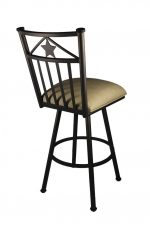 Lonestar Swivel Counter Stool with Light Brown vinyl