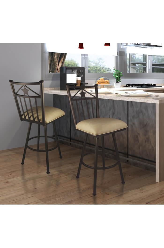 ... Lonestar Swivel Stool In A Modern Kitchen ...