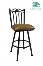 Callee Sunset Swivel Stool with Pebblestone finish