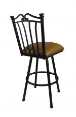 Callee Sunset Swivel Counter Stool with Black Metal