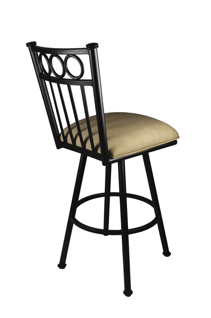 Callee Washington Swivel Black Kitchen Counter Stool