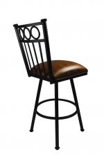 Washington Black Swivel Stool by Callee for Traditional Kitchens