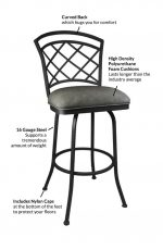"Features of the Baldwin Swivel Stool ""Quick Ship"""