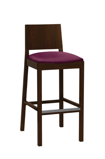 Chloe Bar or Counter Stool with Wood Frame and Seat Cushion