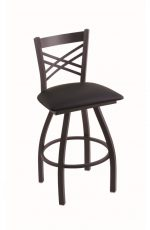 Catalina Big and Tall Black Swivel Barstool