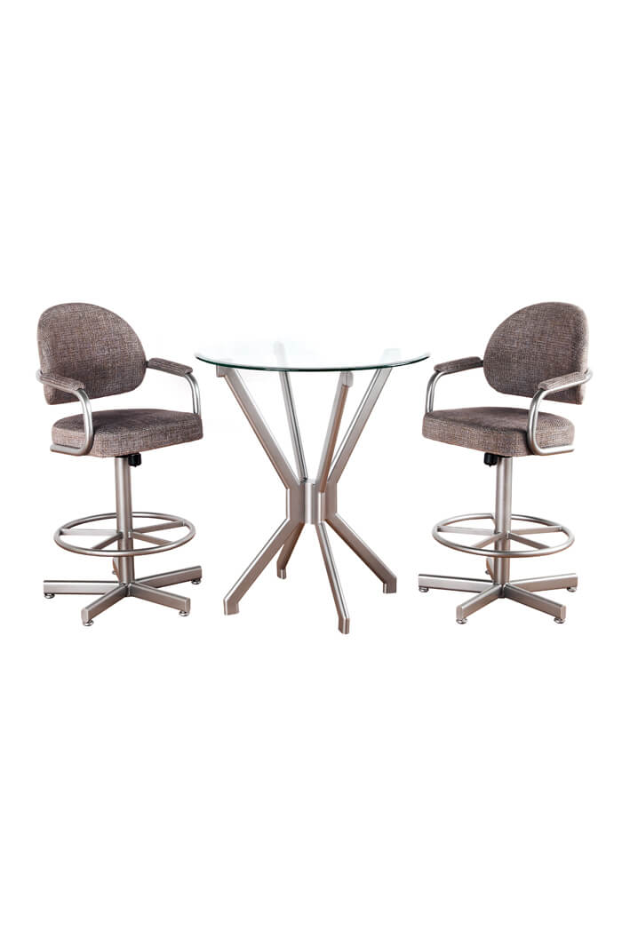 Daytona 3-Piece Pub Set with Tilt Swivel Bar Stools