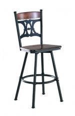 Trica's Penelope Swivel Stool with Wood Seat and Metal Frame