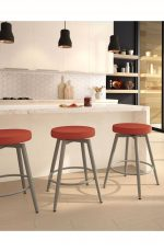 Amisco's Nox Nordic-Style Backless Swivel Stool