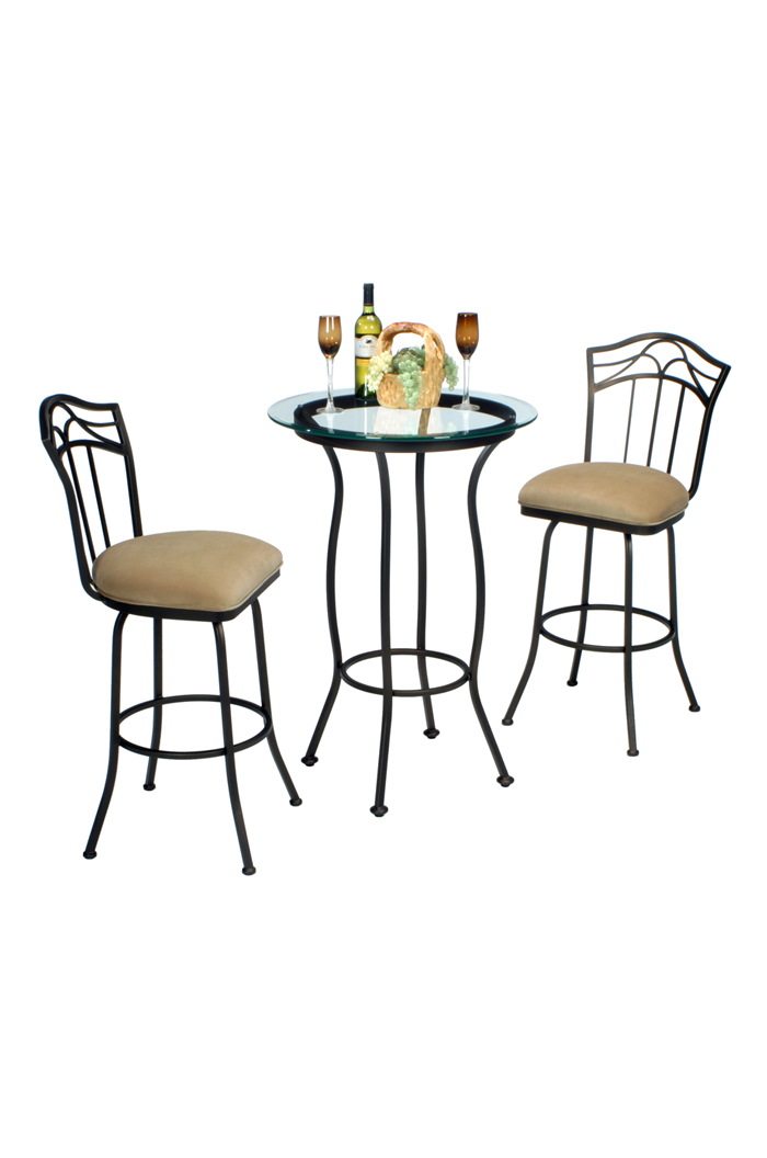 Berkeley Pub Table with Two Swivel Bar Stools