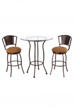 Bristol Pub Table with Two Swivel Bar Stools
