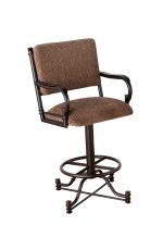 Callee's Burnet Swivel Bar Stool with Arms