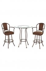 Charleston Pub Table with Two Swivel Bar Stools