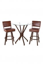 Malibu 3-Piece Pub Set with Two Bar Stools