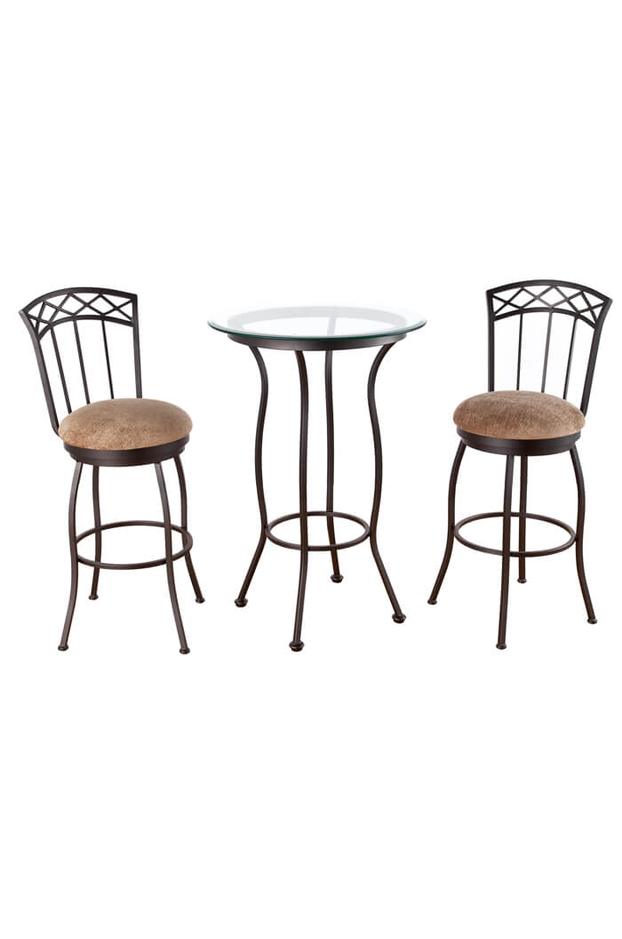 Portville Pub Table with Two Swivel Bar Stools